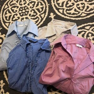 4 button down dress shirts